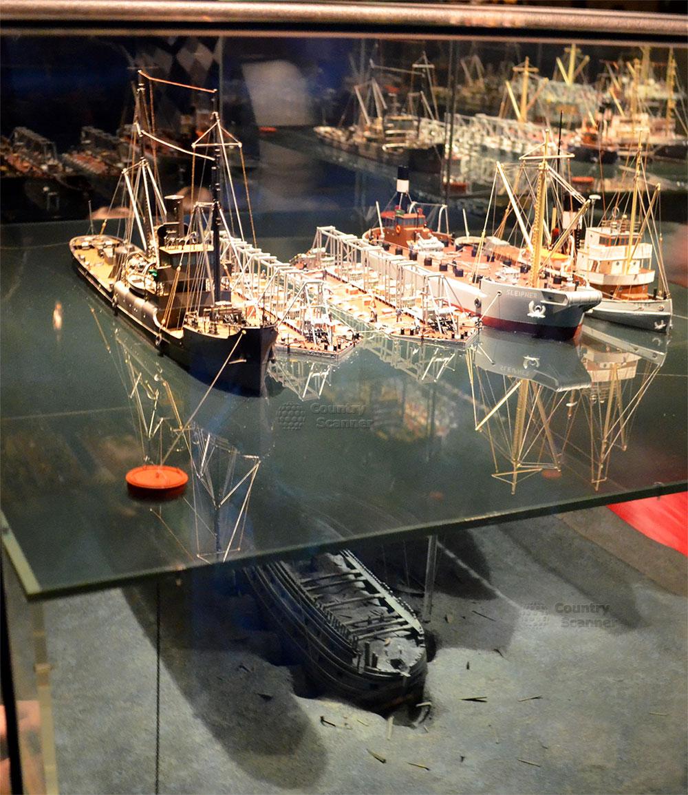 Корабль музей Васа (Vasa). Расположение корабля до того как его обнаружили и подняли