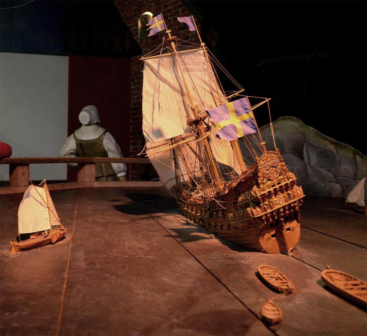Корабль музей Васа (Vasa). Макеты судов