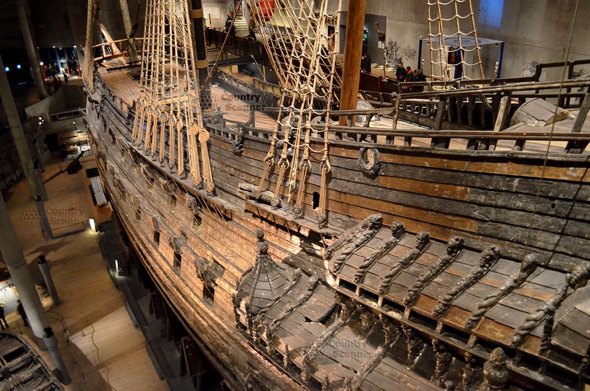 Корабль музей Васа (Vasa). Элементы такелажа