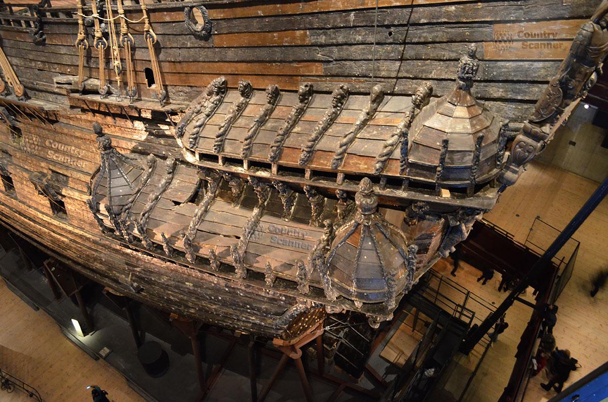 Корабль музей Васа (Vasa). Вид сверху