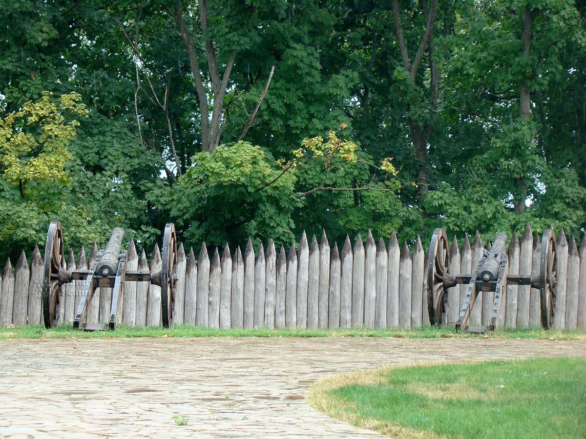 Литовский замок в Батурине. Пушки.