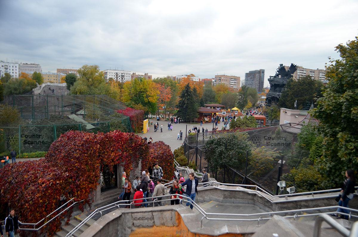 Переход между старой и новой территорией Московского зоопарка.