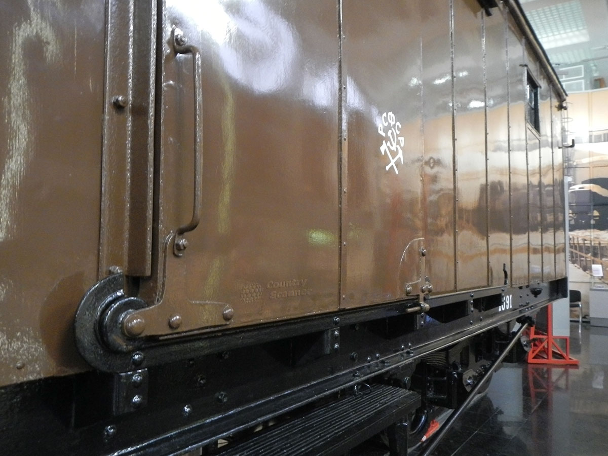 Музей МЖД. Багажный вагон, перевозивший тело Ленина.