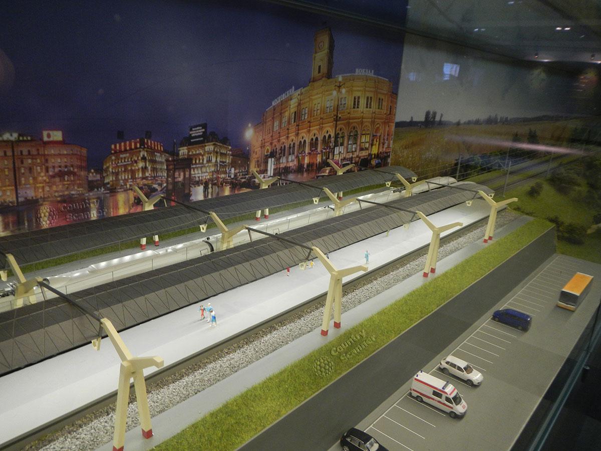 Музей МЖД. Еще один макет вокзала.