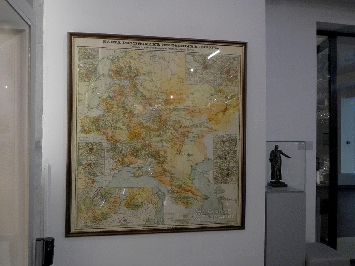 Музей МЖД. Карта магистралей дороги.