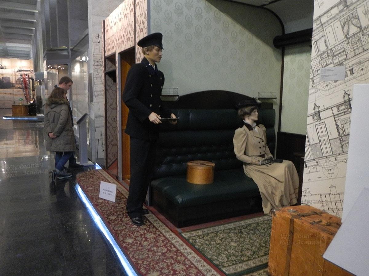 Музей МЖД. Интерьер купе 1 класса царских времен.