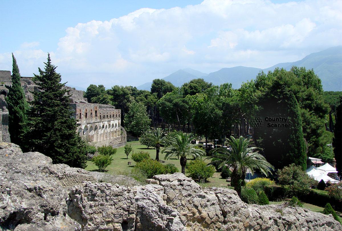 Природа города Помпеи.