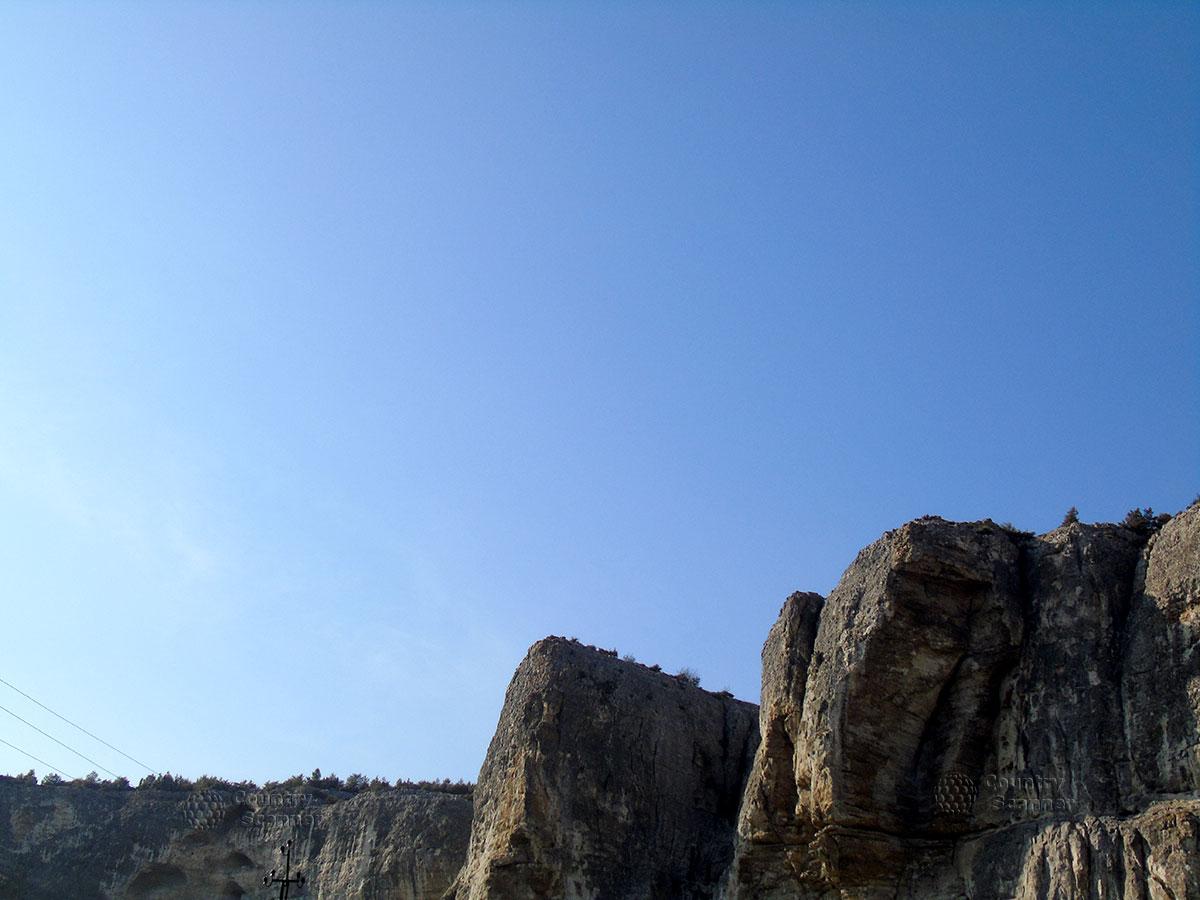 Плато, на котором расположен пещерный город Чуфут-Кале.