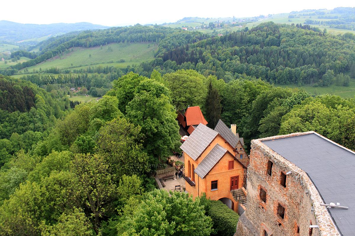 Вид с замковой башни в замке Гродно