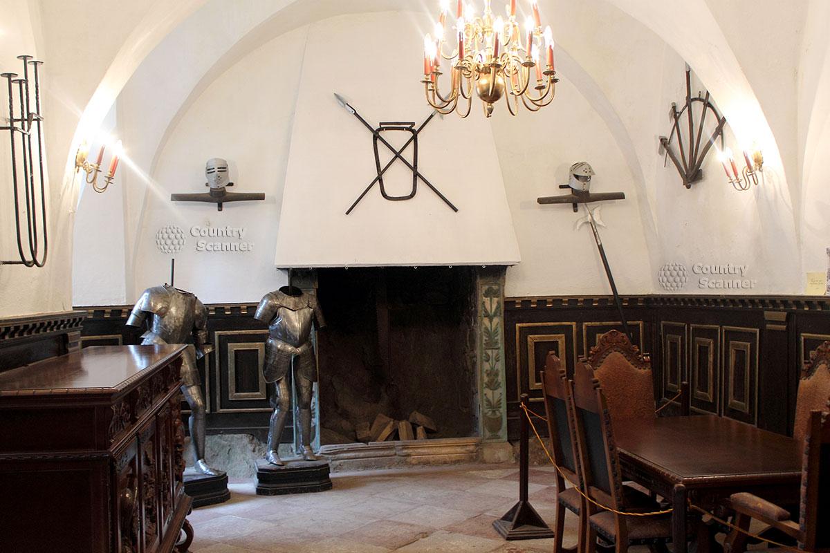 Внутренние декорации в замке Гродно