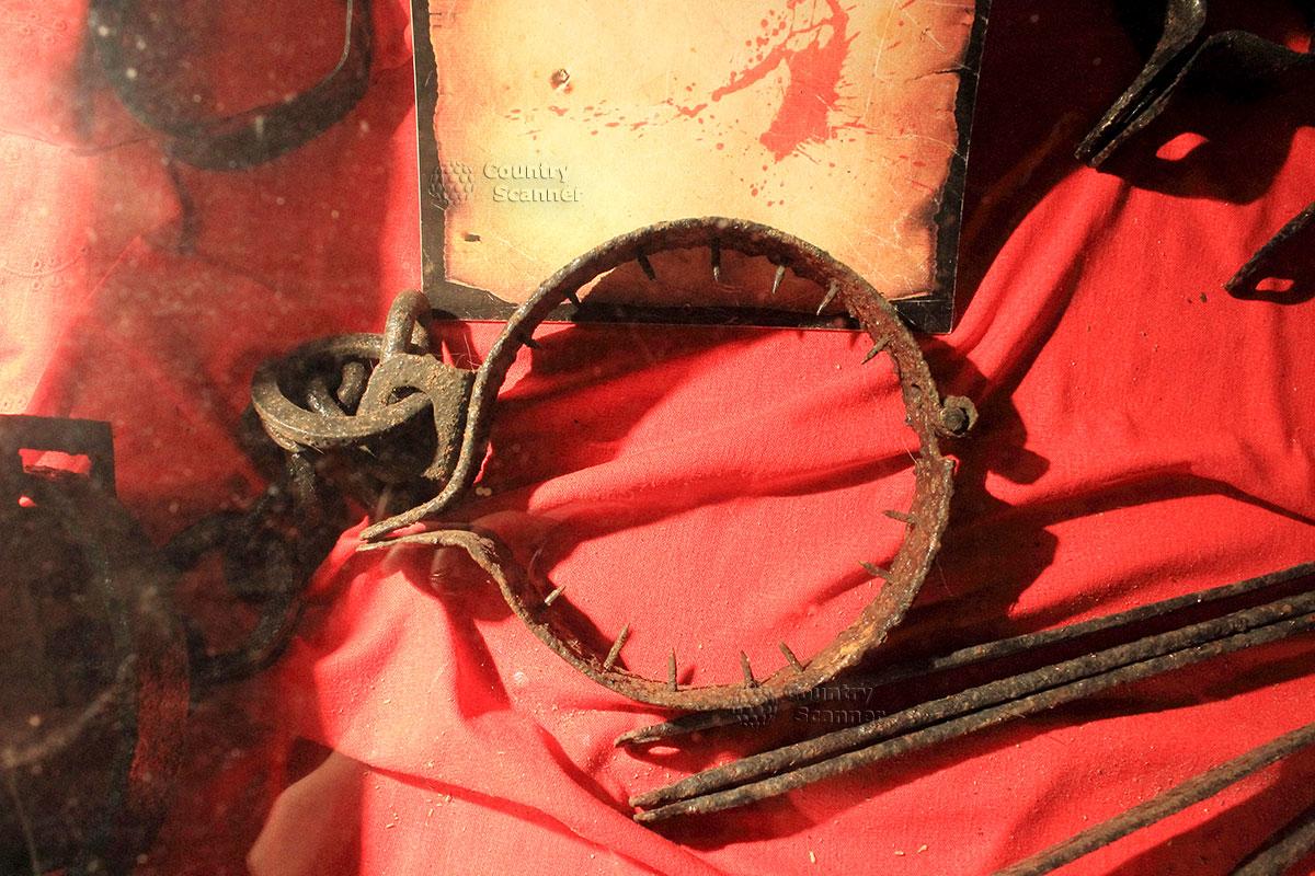 Музейный экспонат для средневековых пыток в замке Гродно
