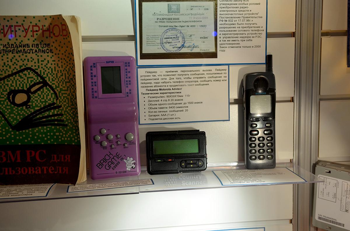 Устройства связи в галерее компьютерной эволюции.