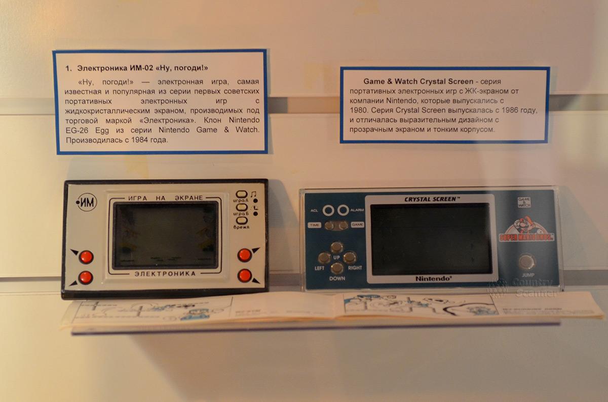 Образцы первых игр в галерее компьютерной эволюции.