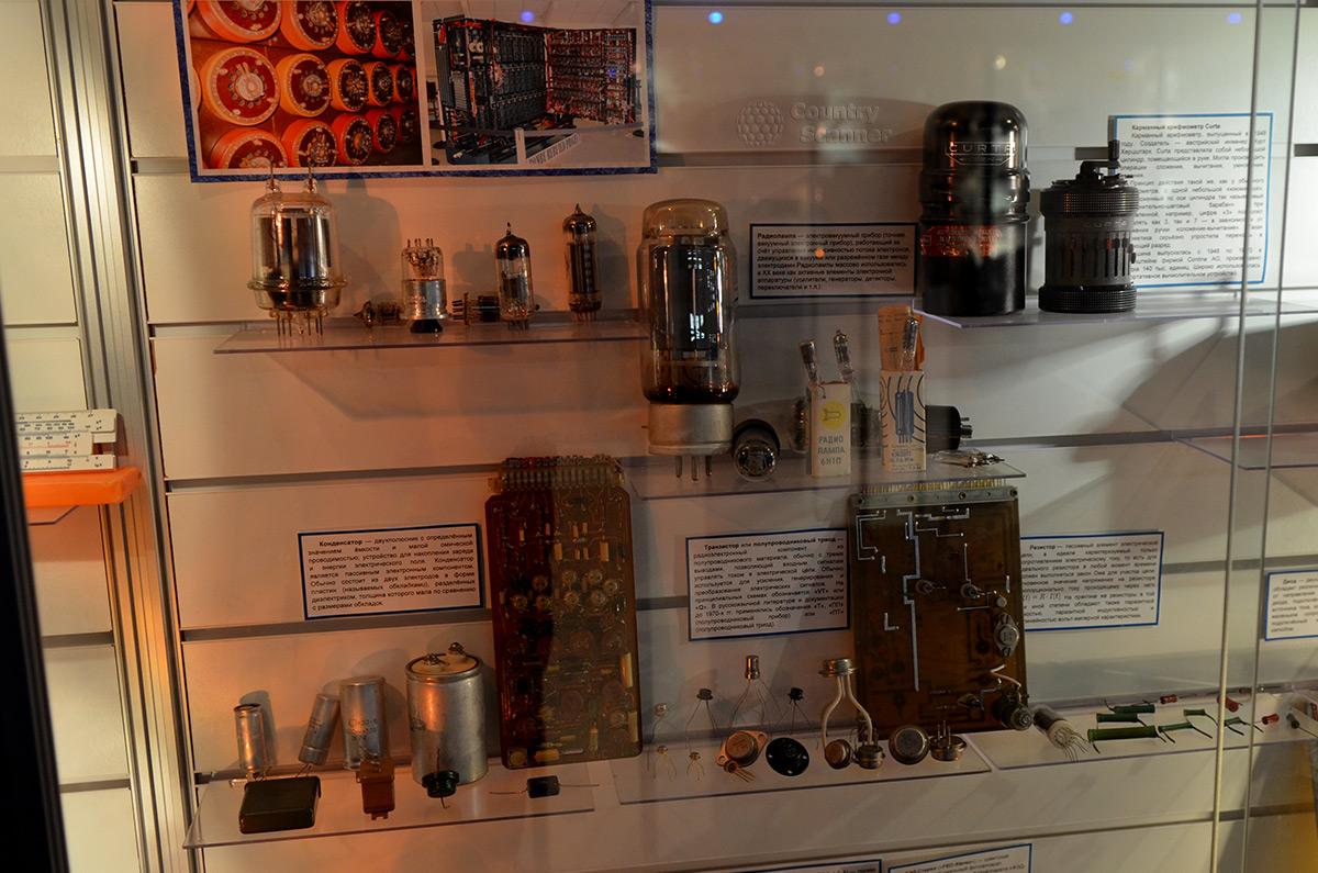 Радиодетали в галерее компьютерной эволюции.
