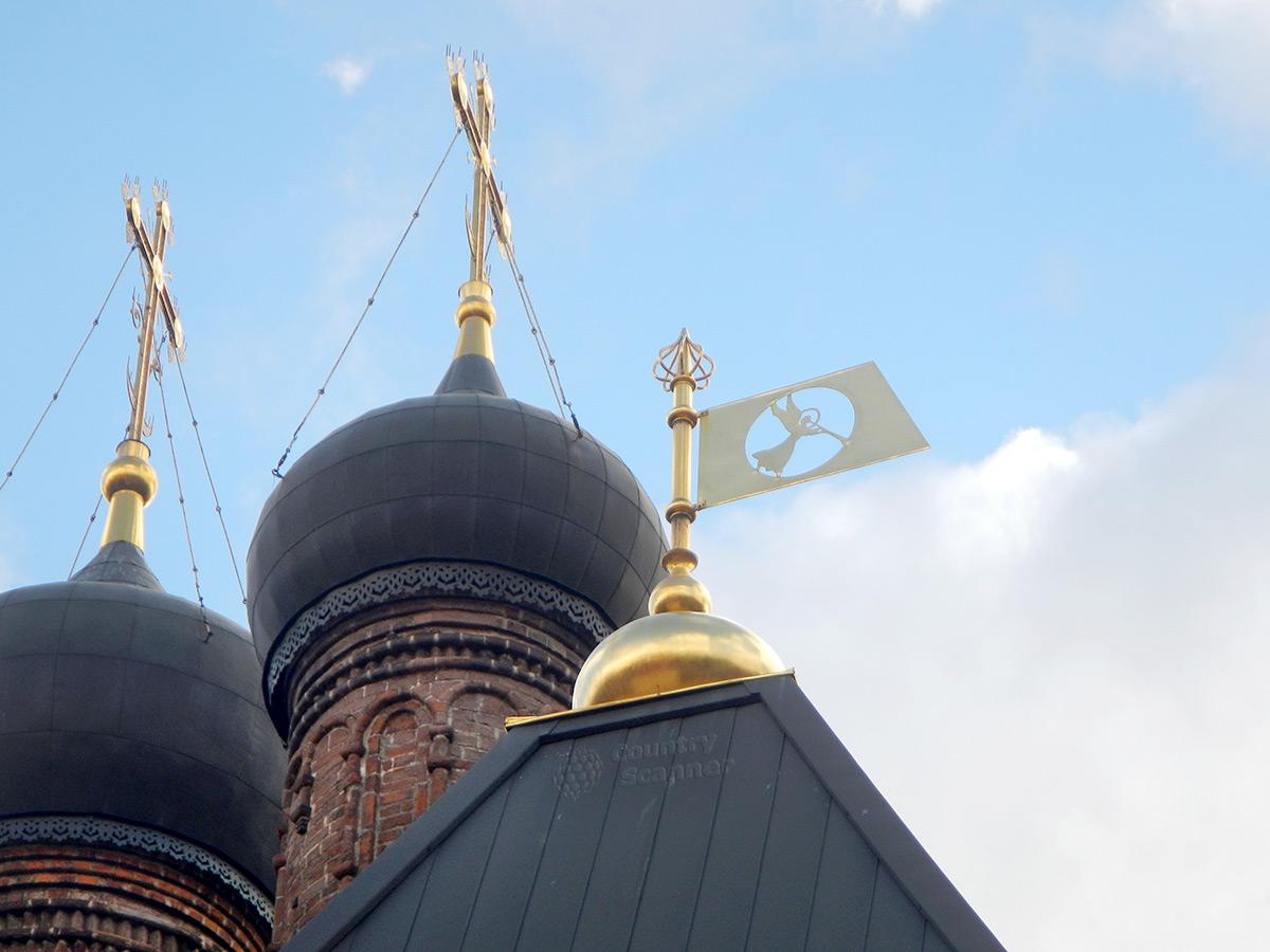Крутицкое подворье. Купола Успенского собора.