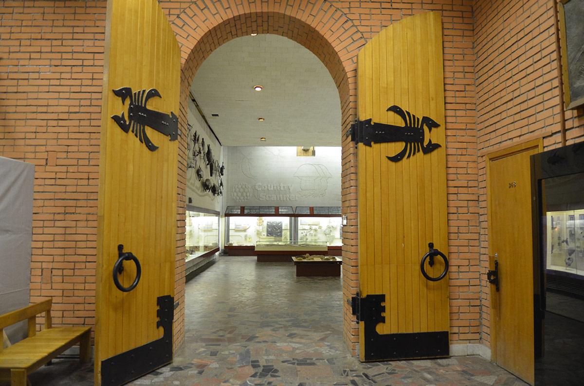 Вход в залы Палеонтологического музея в Москве.