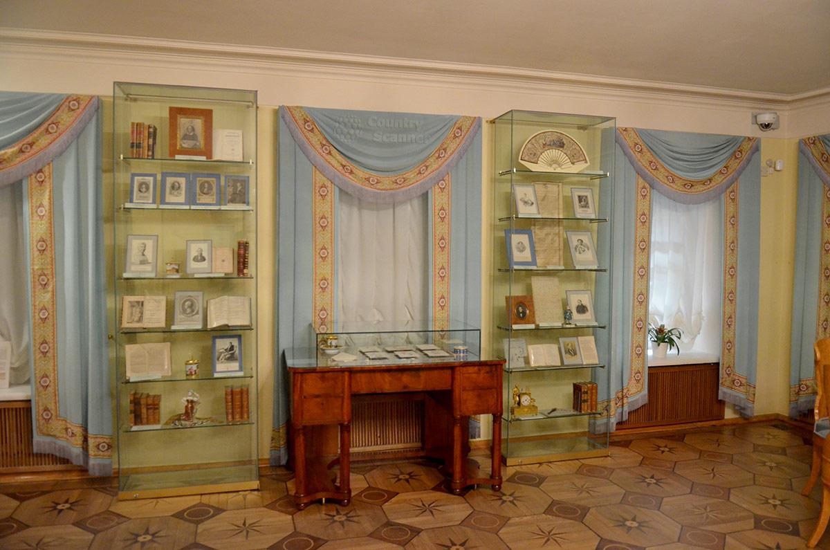 Квартира Пушкина на Арбате, выставочные стенды.
