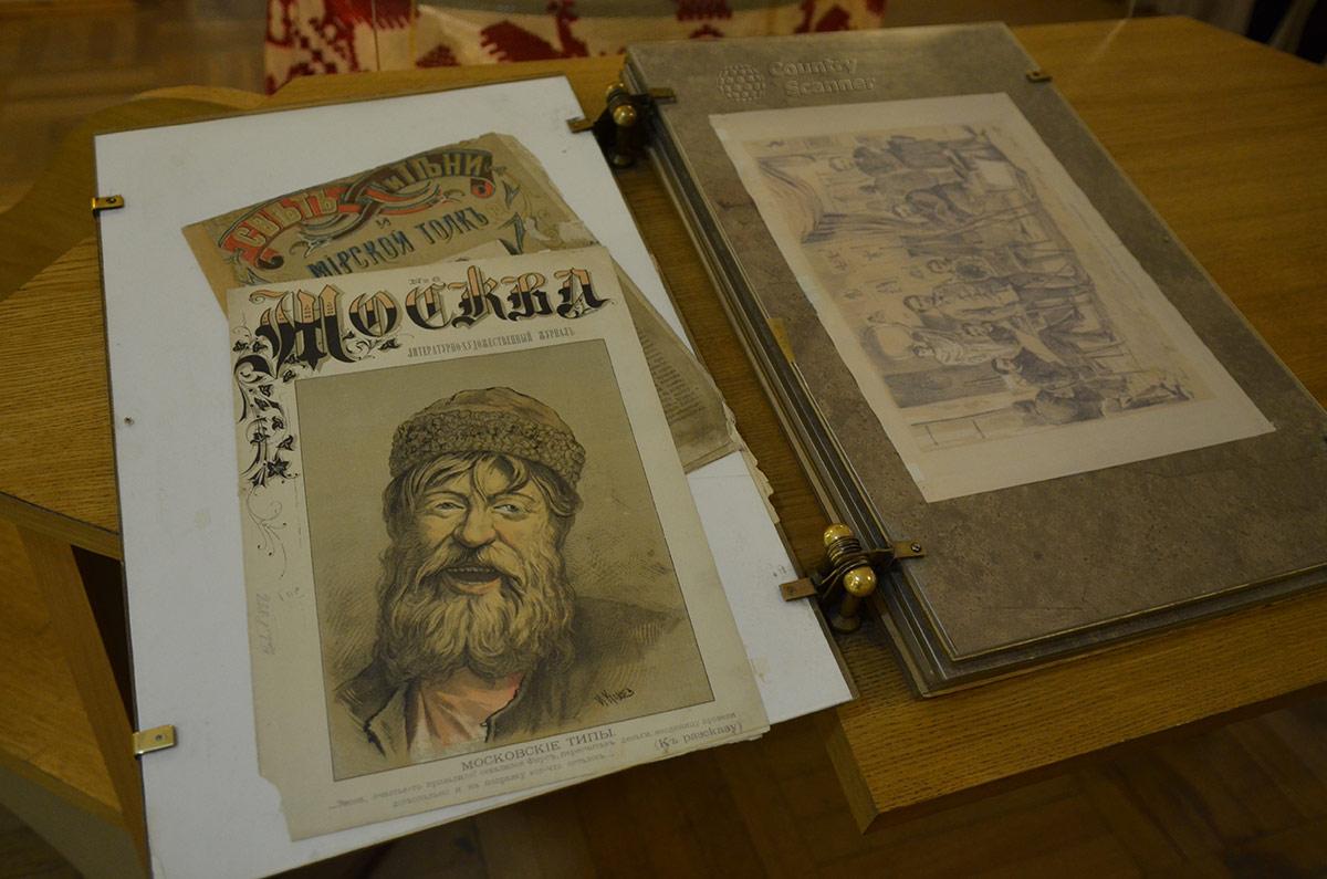 Дом-музей Чехова. Один из экспонатов – собрание документов и фотографий .