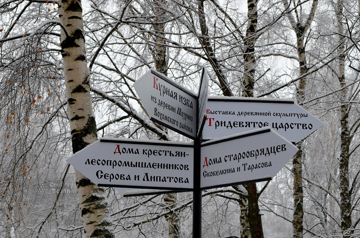 Костромской слободы Дополнительные указатели расположения достопримечательностей.