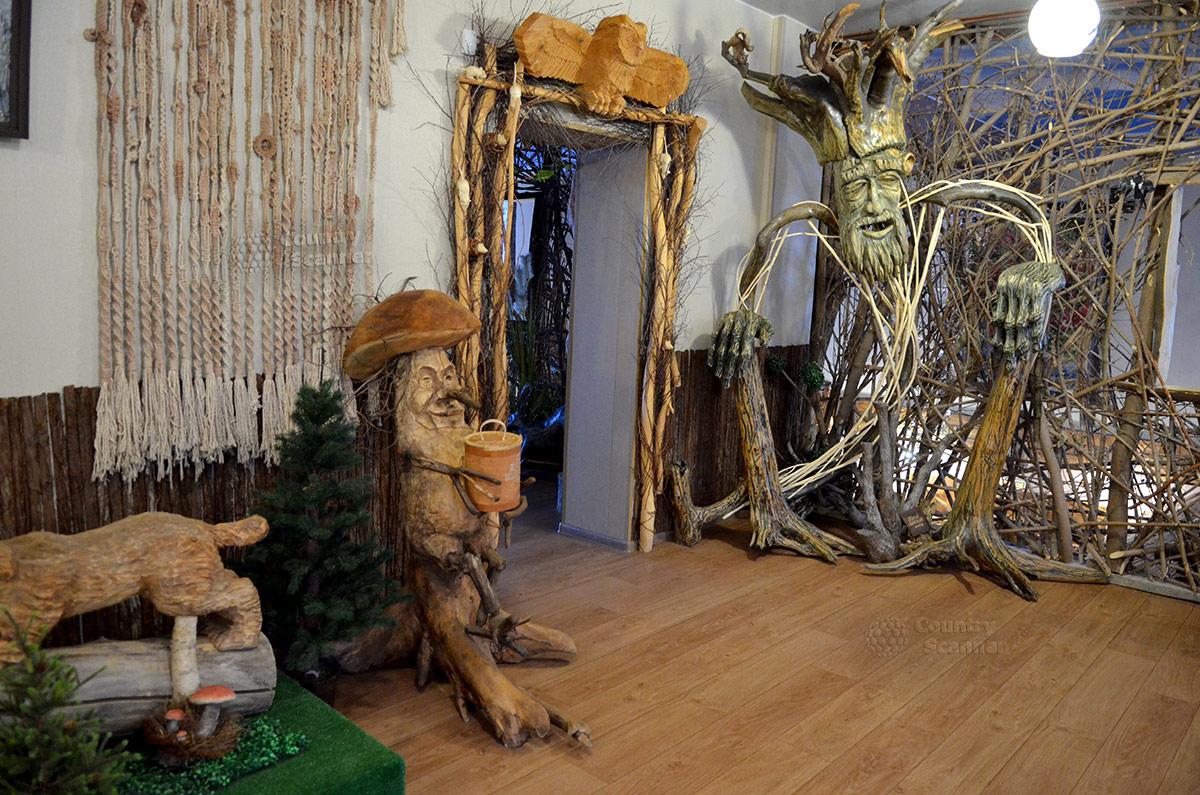 Музей Лес-Чудодей. Волшебный гриб и Пень-Выворотень.