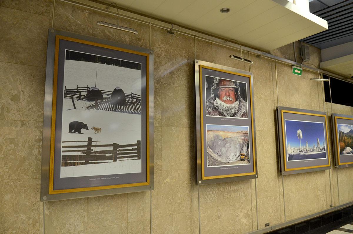 Тематическая подборка работ мастеров фотографии доступна для осмотра и посетителям музея метро.