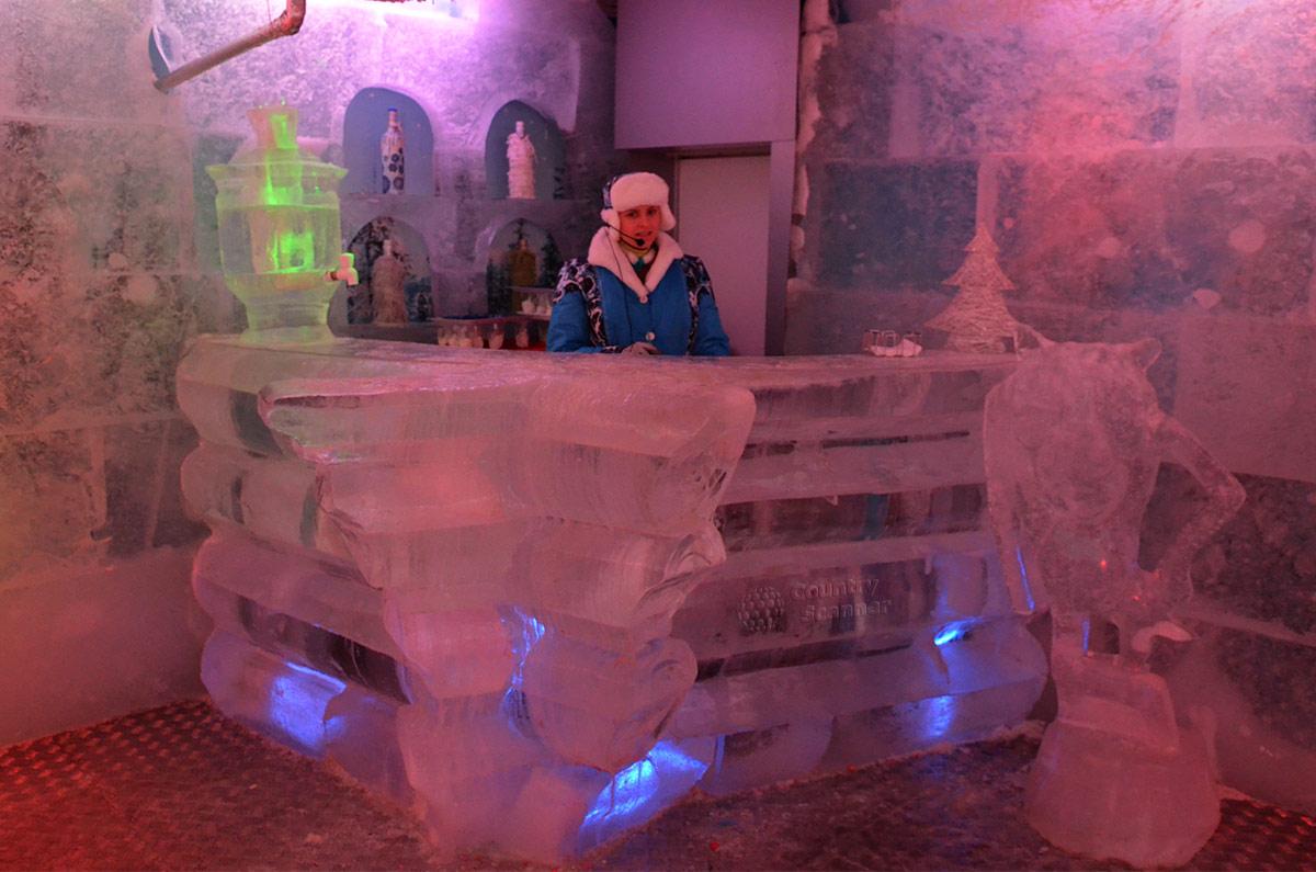 Ледяной музей в Тереме снегурочки.