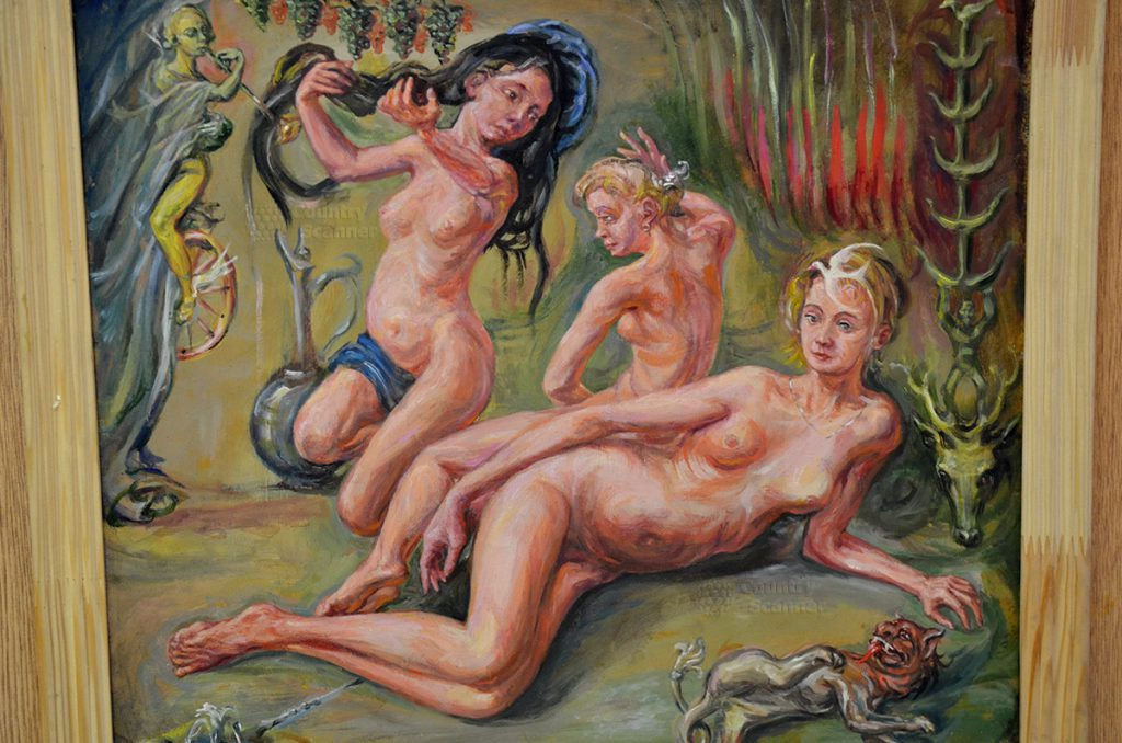 """картина """"Три грации"""" в Музее Русского лубка и наивного искусства"""