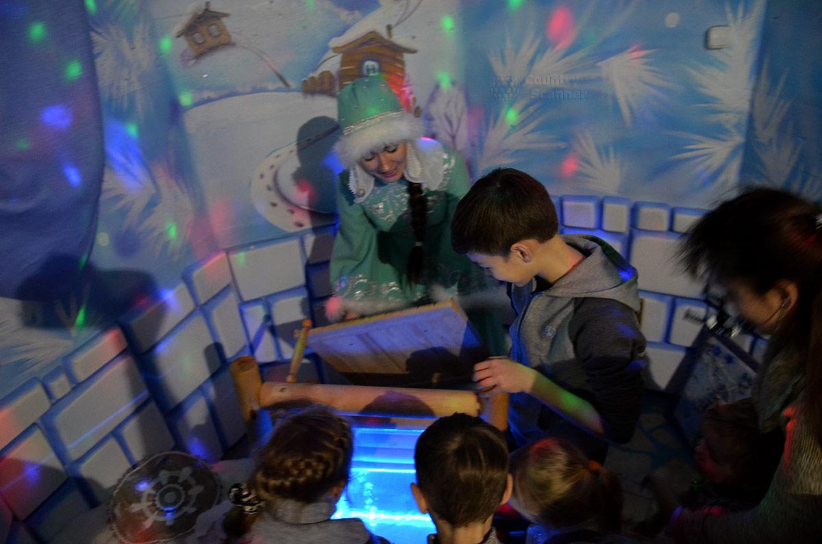 Чудеса в резиденции Снегурочки. Колодец с голубой водицей.