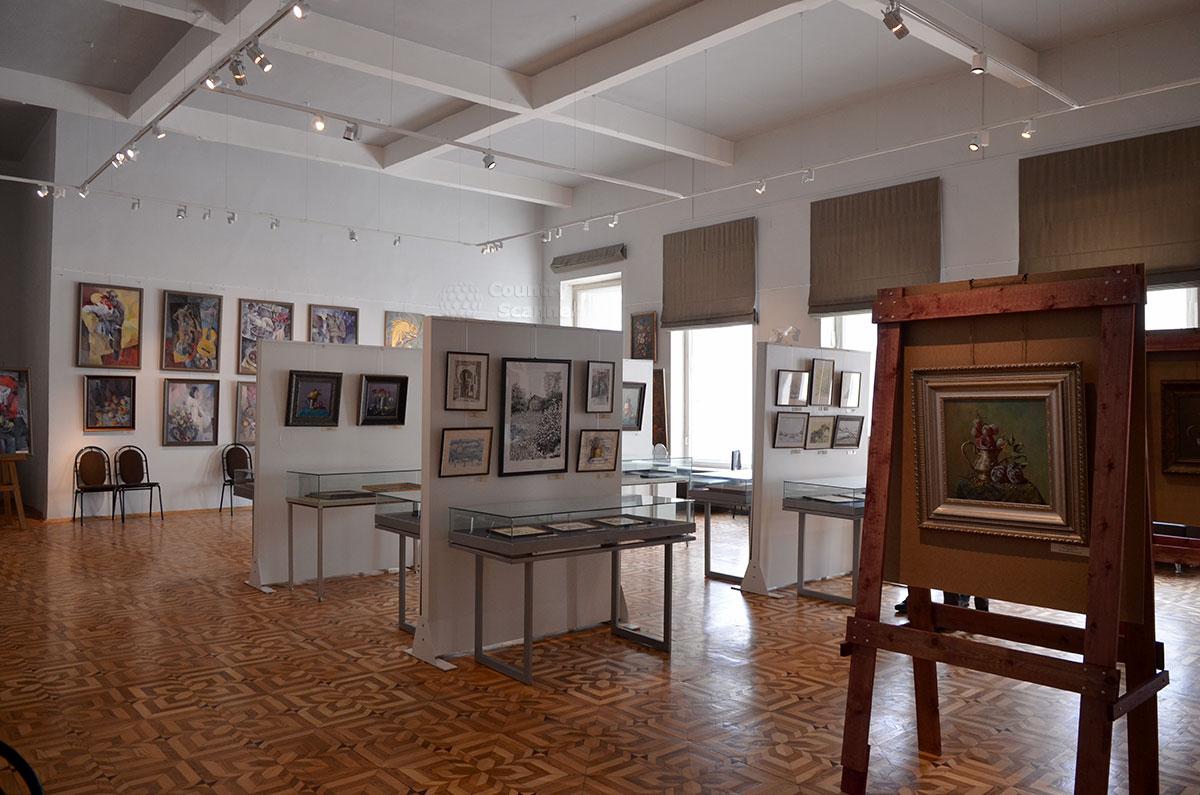 Выставка живописных произведений художников с дефектами здоровья, организованная в музее Преодоление.