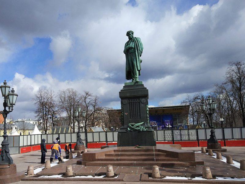 Новость 30-03-2017 Памятник Пушкину изменит окраску