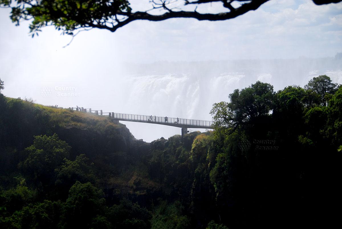 Водопад Виктория. Живописный вид