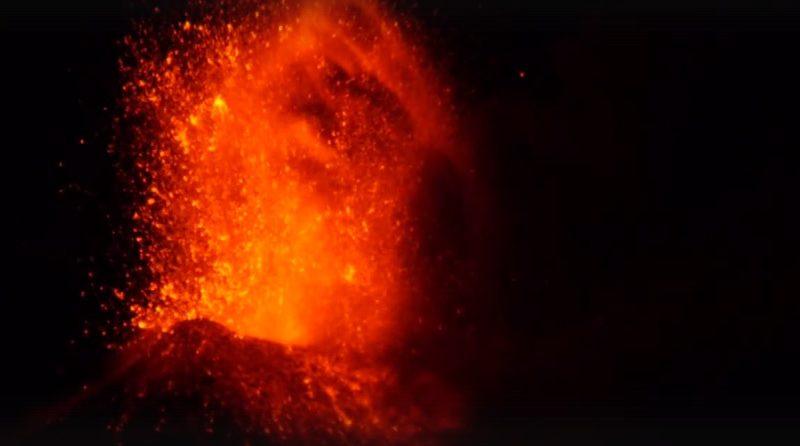 Вулкан Шивелуч. Извержение