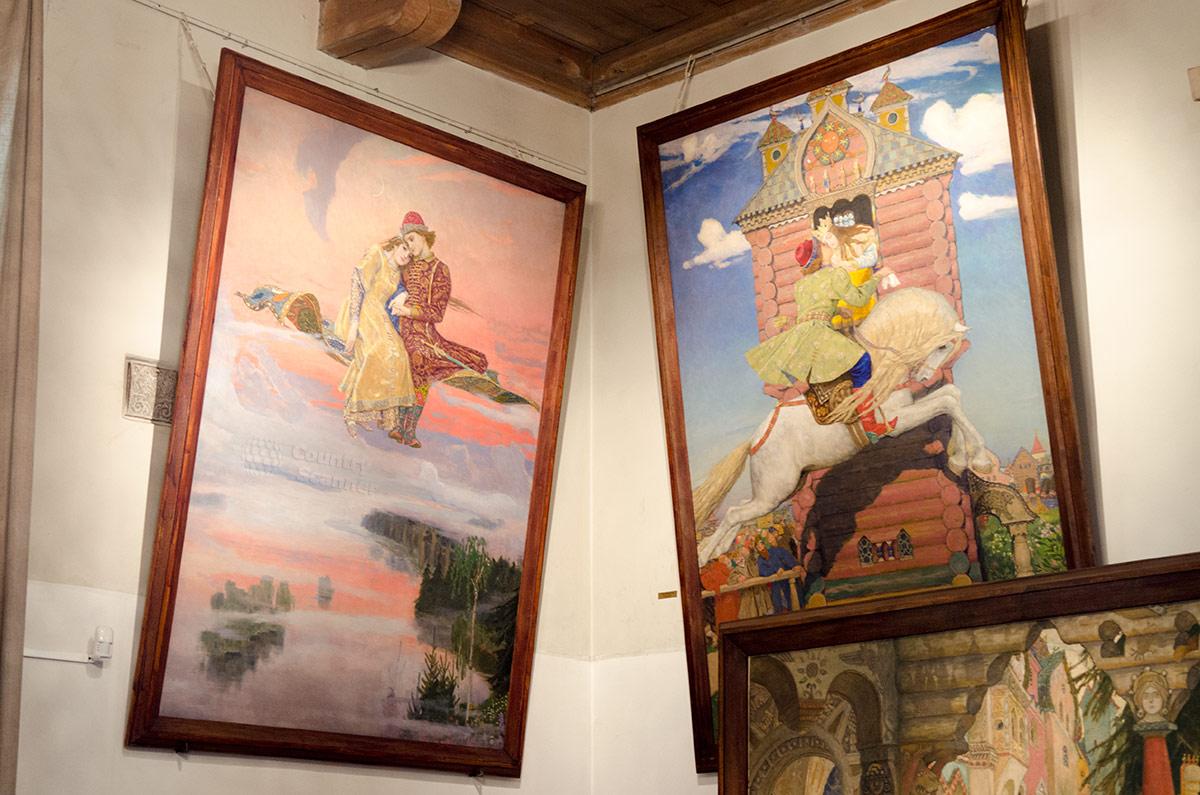 Музей Васнецова. Картины к сказкам Ковер-самолет и Сивка-бурка.