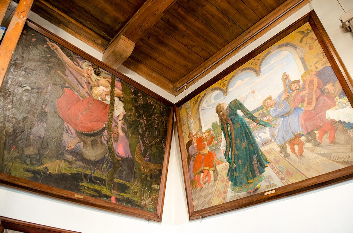 Музей Васнецова. Картины Баба-яга и Царевна-лягушка.