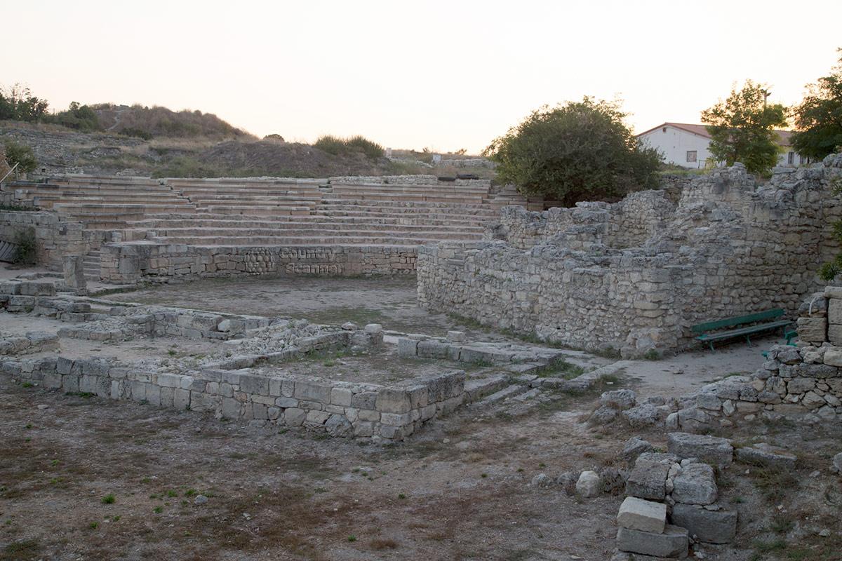Античный театр на территории Херсонеса.