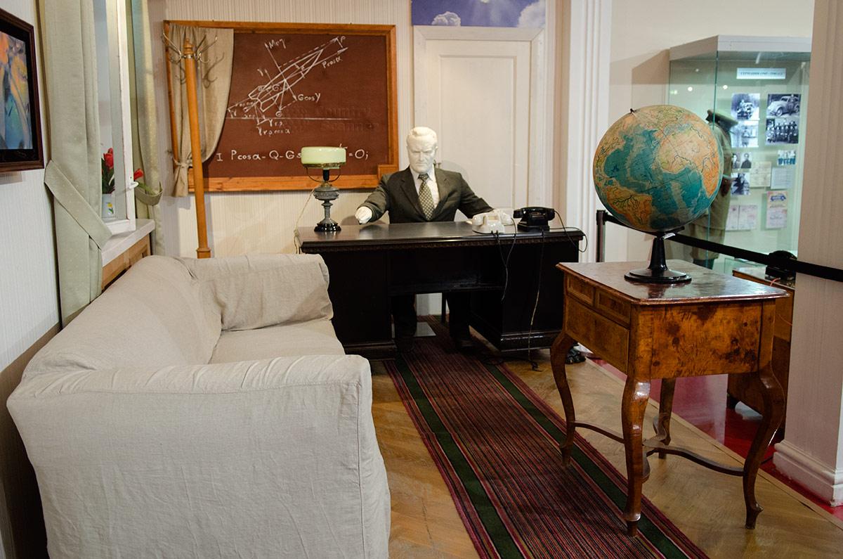 Воссозданный в музее космонавтики интерьер рабочего кабинета творца нашей практической космонавтики, Генерального конструктора Сергея Павловича Королева. Здесь он работал 20 лет.