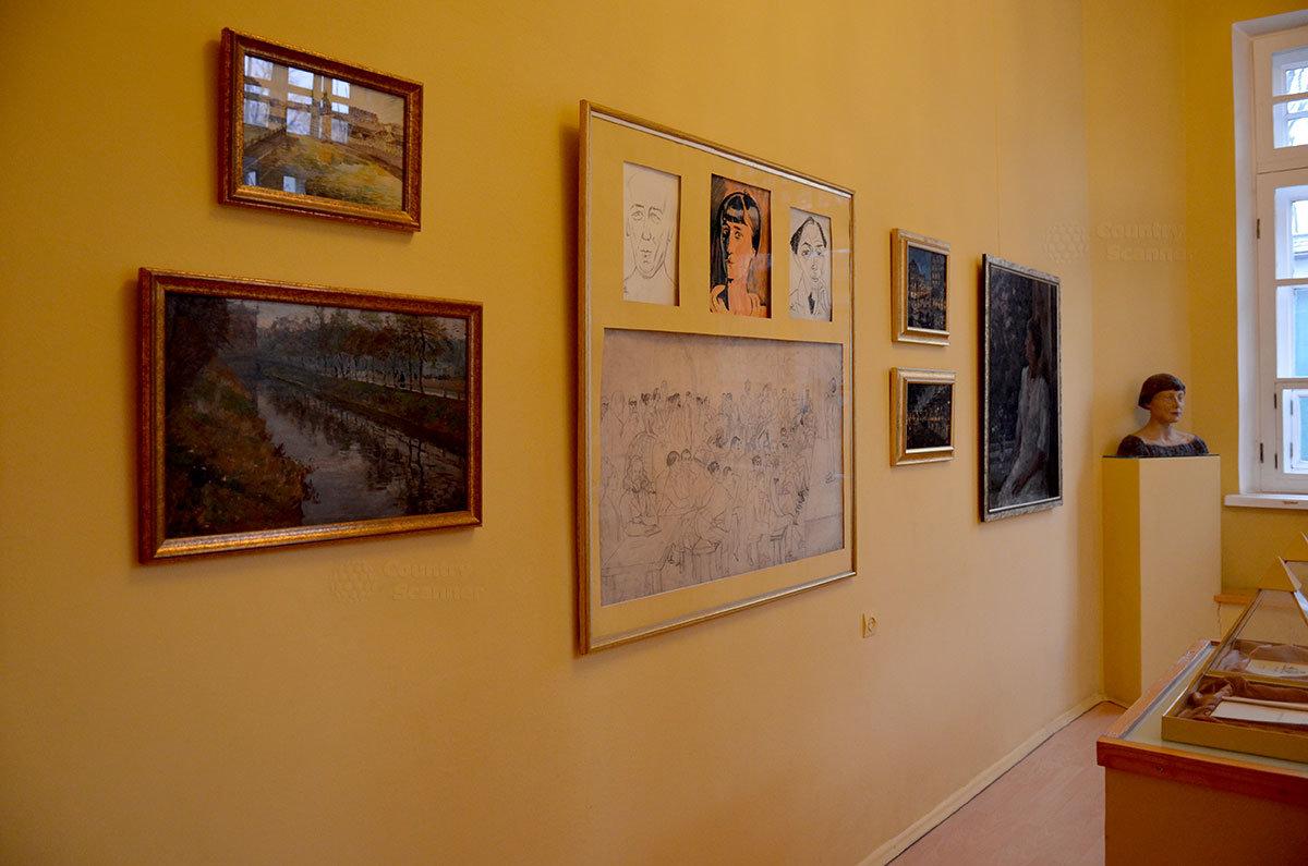 Музей Серебряного века. Групповой шарж на многих деятелей эпохи.