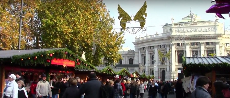 Рождественские базары открываются в Вене в ноябре