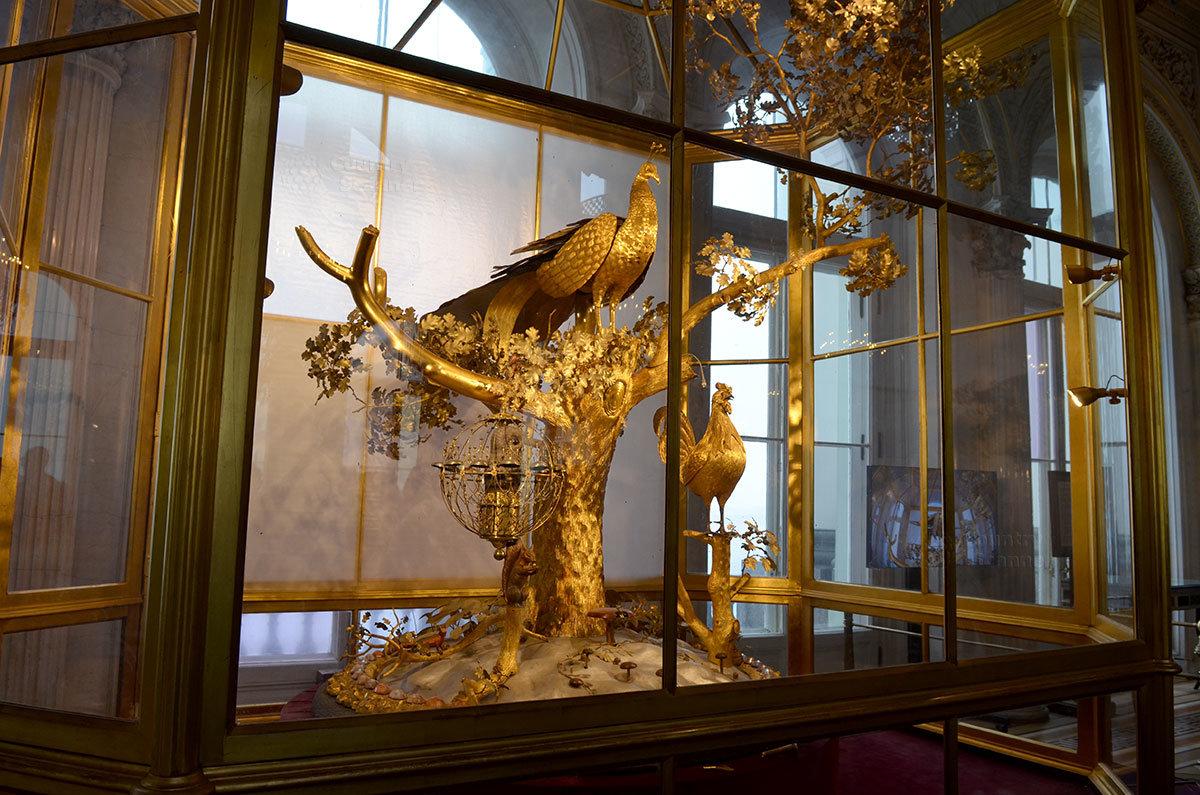 Диковинные часы Павлин в Малом Эрмитаже