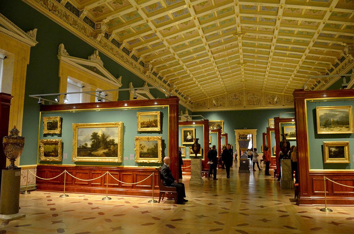 Шатровый зал Нового Эрмитажа представляет экспозицию так называемых Малых голландцев.