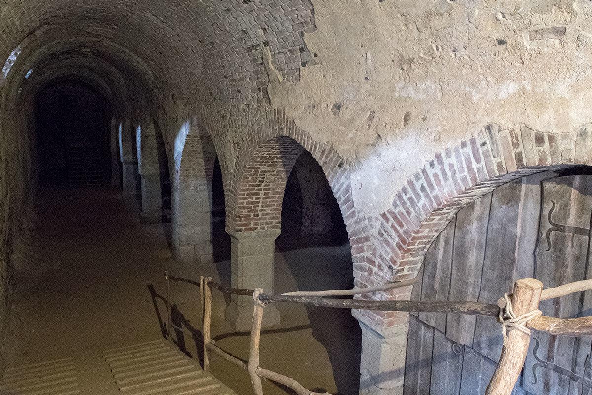 Старинная колоннада в подвале Королевского дворца замка Точник украшала не что иное, как склады продовольствия.