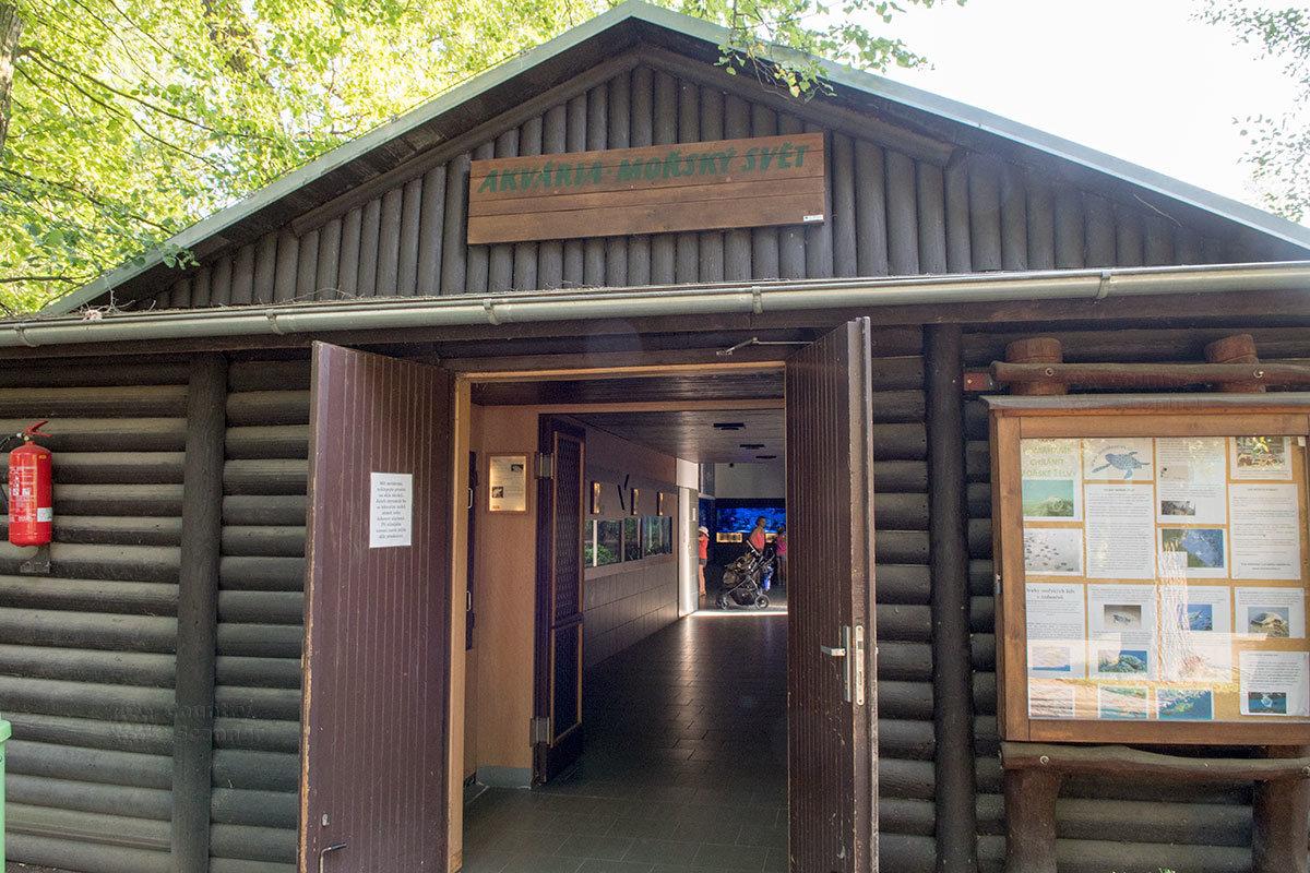 Зоопарк Годонин. У входа в аквариум.
