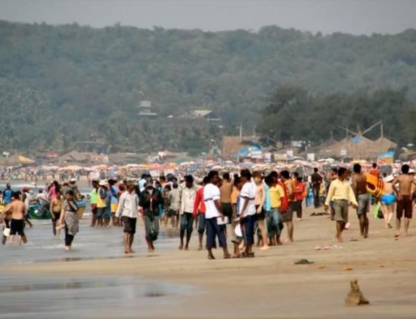 Индия. Пляж в Гоа