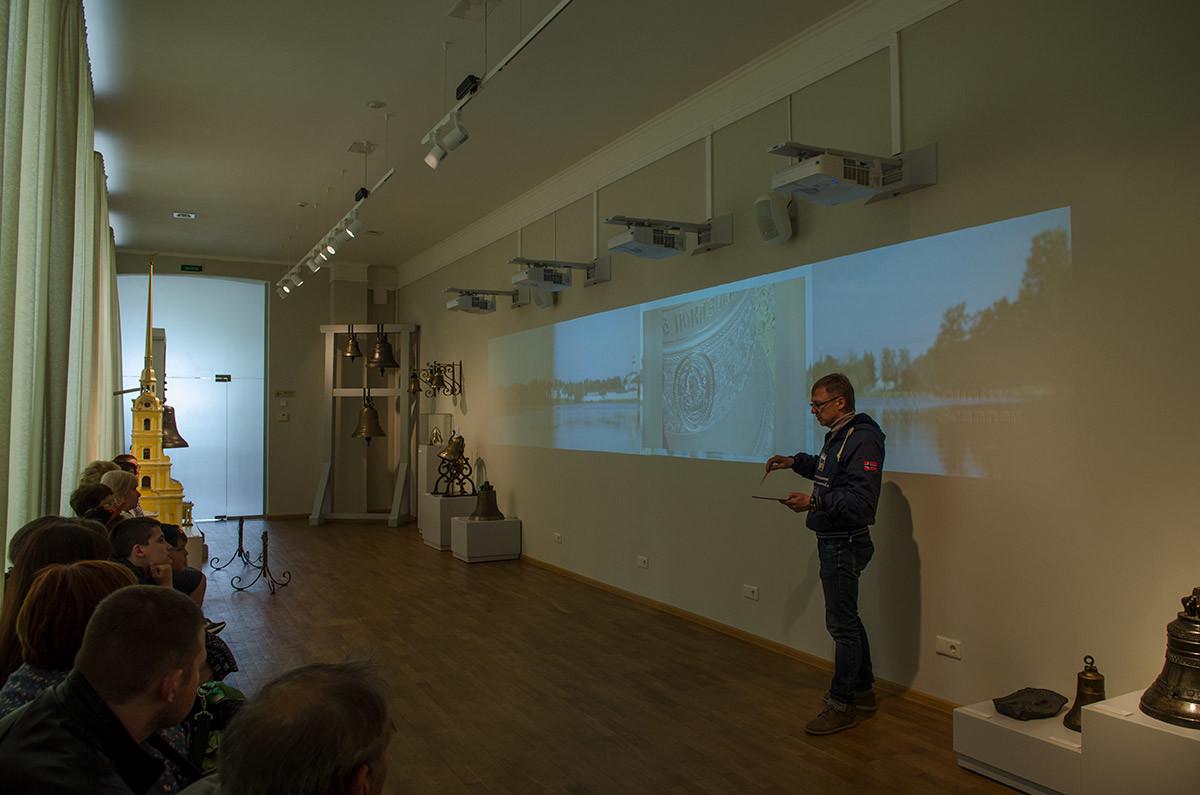В своем новом зале музейный колокольный центр применяет самые современные технологии изложения информации.