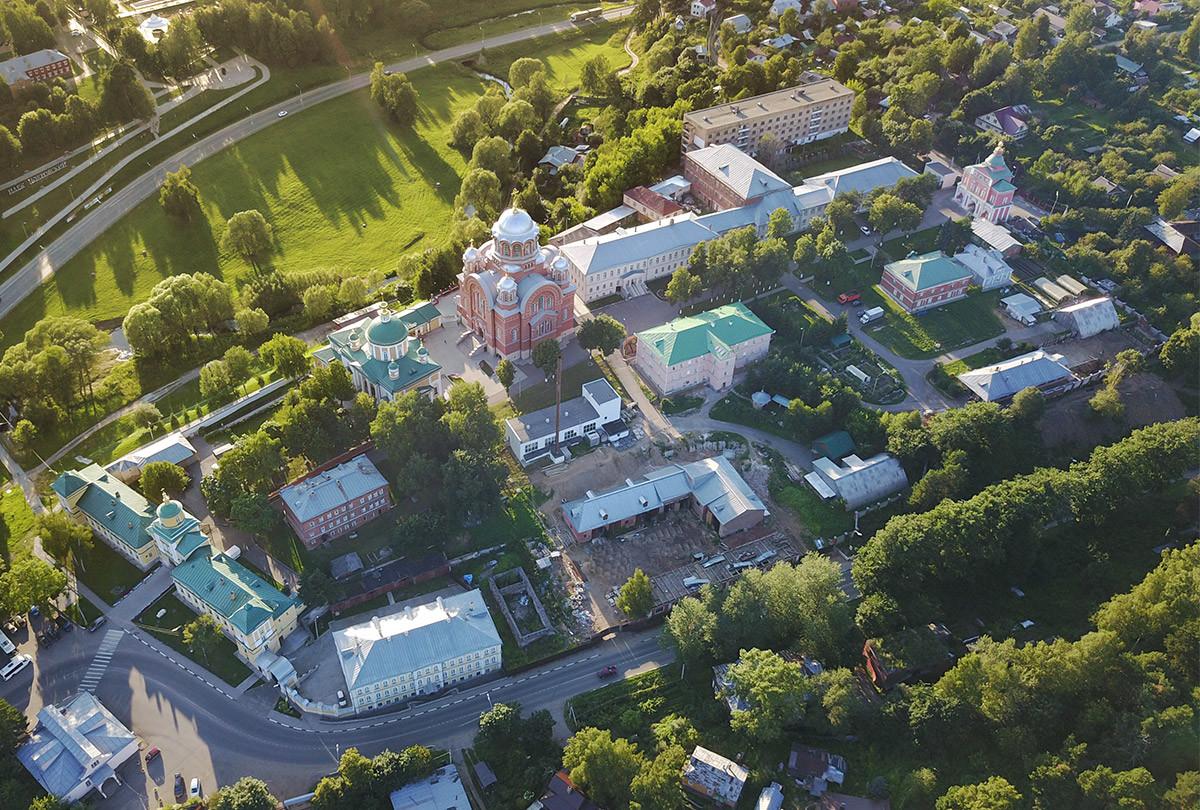 Покровский Хотьков монастырь (квадрокоптер)