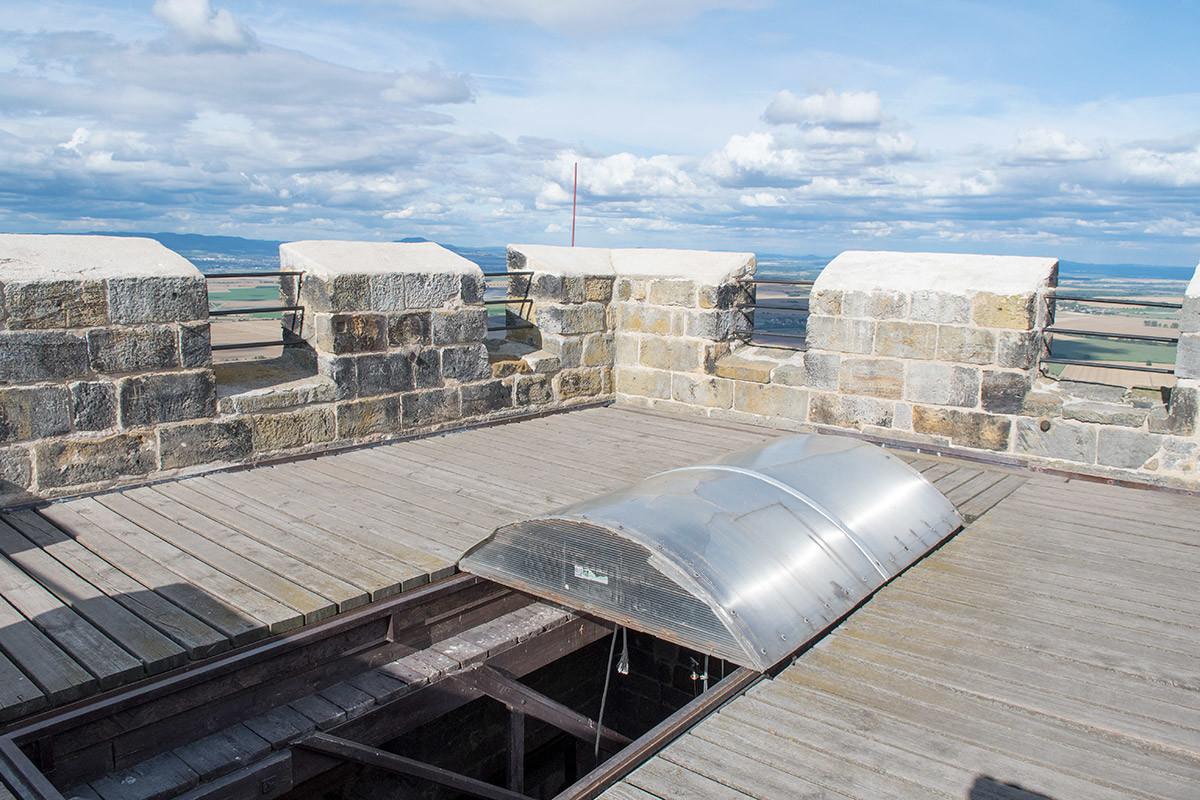 Смотровая площадка Белой башни замка Хазмбурк
