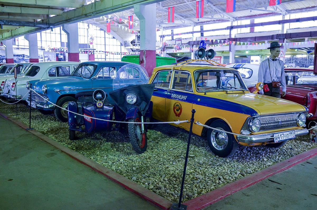 Предприятия города Ижевска снабжали правоохранителей авто- и мототехникой, представленной в музее Московский транспорт.