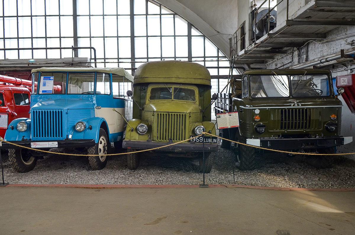 Музей Московский транспорт демонстрирует курортный автобус Рица, выпускавшийся в Сочи для всех советских курортов.