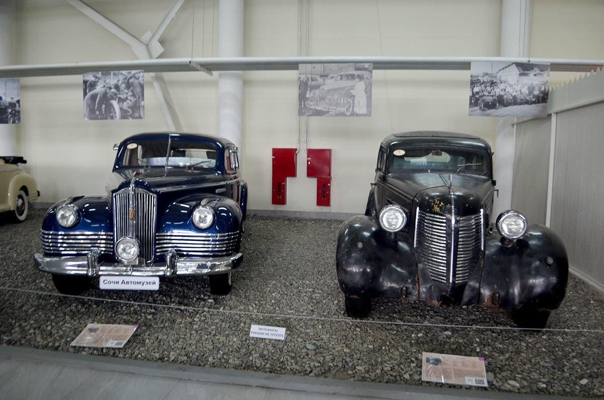 Звезды кремлевского автопарк - ЗИСы разных марок выставил Сочи Автоиузей.