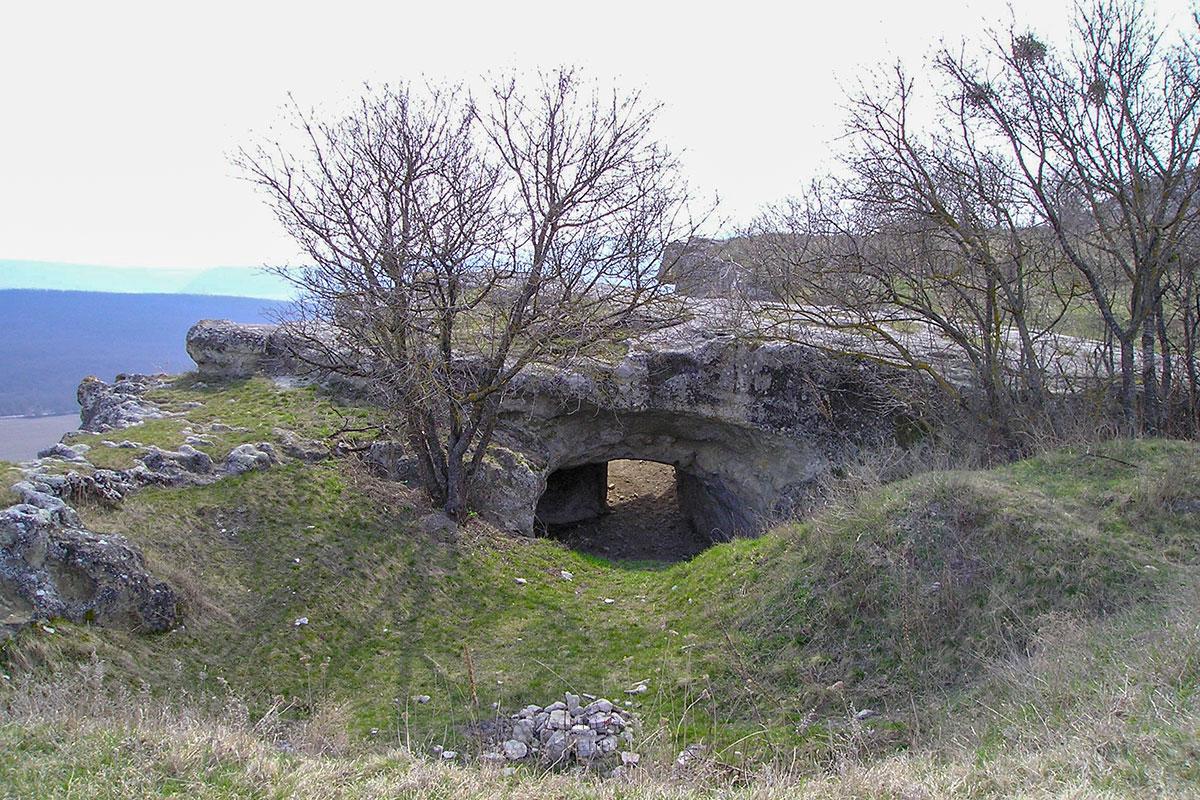 Бакла. Тоннель на территорию цитадели.